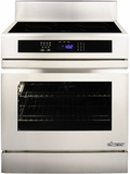 "RR30NS Dacor Renaissance Series 30"" Induction Freestanding Range with Epicure Style Handle - Stainless and Black Ceramic Glass"