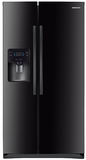 "RS25H5000BC Samsung 36"" Wide 25 cu. ft. Capacity Side-By-Side Refrigerator with LED Lighting - Black"