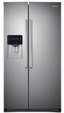 "RS25H5000SR Samsung 36"" Wide 25 cu. ft. Capacity Side-By-Side Refrigerator with LED Lighting - Stainless Steel"