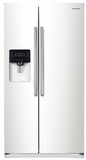 "RS25H5000WW Samsung 36"" Wide 25 cu. ft. Capacity Side-By-Side Refrigerator with LED Lighting - White"