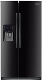 "RS25H5111BC Samsung 36"" Wide, 25 cu. ft. Capacity Side-By-Side Refrigerator with LED Tower Lighting - Black"
