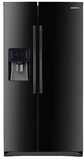 """RS25H5121BC Samsung 36""""-Wide, 25 cu. ft. Capacity Side-By-Side Refrigerator with CoolSelect Zone - Black"""