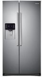 """RS25H5121SR Samsung 36""""-Wide, 25 cu. ft. Capacity Side-By-Side Refrigerator with CoolSelect Zone - Stainless Steel"""