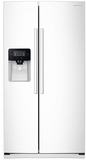 RS25J500DWW Samsung 25 cu. ft. Capacity Side-By-Side Refrigerator with LED Lighting  & External Dispenser - White