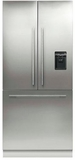 "RS36A80U1 Fisher & Paykel 36"" ActiveSmart French Door Built-in Refrigerator with Ice & Water � 80"" Tall - Custom Panel"