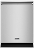 "RVDW103WSSS Viking 24"" Dishwasher with Water Softener and Installed Viking Stainless Steel Panel - Stainless Steel"