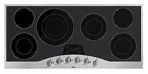 """RVEC3456BSB Viking 45"""" Electric Cooktop - Black with Stainless Trim"""