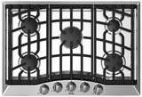 """RVGC3305BSSLP Viking Built-in 30"""" Liquid Propance (LP) Gas Cooktop with 5 Sealed Burners - Stainless Steel"""