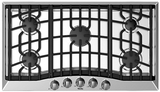 """RVGC3365BSSLP Viking Built-in 36"""" Liquid Propane (LP) Gas Cooktop with Sealed Burners - Stainless Steel"""