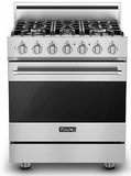 "RVGR33015BSSLP Viking 30"" Self Cleaning Gas Range with Five Permanently Sealed Burners - LP Gas - Stainless Steel"