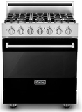 "RVGR33015BBK Viking 30"" Self Cleaning Gas Range with Five Permanently Sealed Burners - Natural Gas - Black"