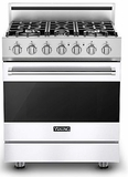 "RVGR33015BWH Viking 30"" Self Cleaning Gas Range with Five Permanently Sealed Burners - Natural Gas - White"