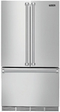 "RVRF336SS Viking 36"" Freestanding French Door Cabinet Depth Refrigerator with Premium Air Purification System - Stainless Steel"