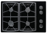 "SGM304BLP Dacor Classic 30"" All-Gas 4 Burner Cooktop - Black, Liquid Propane"