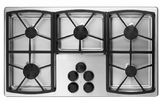 "SGM365SLP Dacor Classic 36"" 5 Burner Gas Cooktop - Stainless Steel, Liquid Propane"