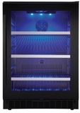 "SSBC056D2B Danby 24"" Silhouette Single Zone Beverage Center - Black with Glass Door"