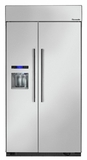 "T42BD810NS Thermador 42"" Built-In Side-by-Side Refrigerator with External Water and Ice Dispenser - Masterpiece Handles - Stainless Steel"