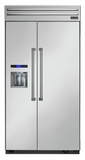 "T42BD820NS Thermador 42"" Built-In Side-by-Side Refrigerator with External Water and Ice Dispenser - Professional Handles - Stainless Steel"