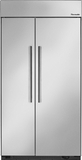 "T42BR810NS Thermador 42"" Built-In Side-by-Side Refrigerator - Masterpiece Handles - Stainless Steel"