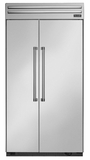"T42BR820NS Thermador 42"" Built-In Side-by-Side Refrigerator - Professional Handles - Stainless Steel"