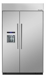 "T48BD810NS Thermador 48"" Built-In Side-by-Side Refrigerator with External Water and Ice Dispenser - Masterpiece Handles - Stainless Steel"