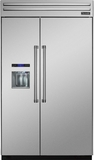 "T48BD820NS Thermador 48"" Built-In Side-by-Side Refrigerator with External Water and Ice Dispenser - Professional Handles - Stainless Steel"