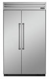 "T48BR820NS Thermador 48"" Built-In Side-by-Side Refrigerator - Professional Handles - Stainless Steel"