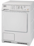 "T8033 Miele 24"" Electric Dryer with 8 Dry Programs and Anti-Creasing After Program End - White"