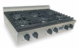 TPN031-7 Five Star 36'' Liquid Propane Pro Cooktop with 6 Sealed Burners - Stainless Steel