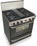 "TTN281-7W Five Star 30"" Pro Style Natural Gas Convection Range with Sealed Burners - Natural Gas - Black"