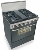 "TTN287-7W Five Star 30"" Pro Style Dual-Fuel Self-Cleaning Convection Range with Sealed Burners - Natural Gas - Black"