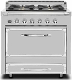 TVDR3602GSS Viking Tuscany 36 Inch Pro-Style Dual Fuel Range with 2 20,000 BTU Burners 3.4 cu. ft. Convection Oven and Electric Griddle - Natural Gas - Stainless Steel