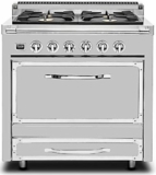 TVDR3604BSS Viking Tuscany 36 Inch Pro-Style Dual Fuel Range with 4 20,000 BTU Burners, 3.4 cu. ft. Convection Oven and Proofing Mode - Natural Gas - Stainless Steel
