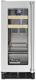 "VBCI5150GLSS Viking Professional 15"" Undercounter Beverage Center with Forced Air Cooling System - Left Hinge - Stainless Steel"