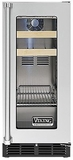 "VBCI5150GRSS Viking Professional 15"" Undercounter Beverage Center with Forced Air Cooling System - Right Hinge - Stainless Steel"