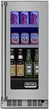 "VBUI5150GRSS 15"" Viking Professional 5 series Undercounter Full Size Beverage Center with Electronic Controls and Dynamic Cooling Technologies - Right Hinge - Stainless Steel"