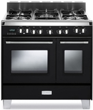 "VCLFSGE365DE Verona Classic 36"" Dual Fuel double Oven Range with 5 Sealed Burners - Black"