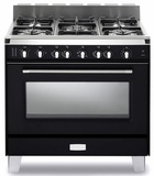 "VCLFSGG365E Verona Classic 36"" All Gas Single Oven Range with 5 Sealed Burners - Black"