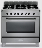 "VCLFSGG365SS Verona Classic 36"" All Gas Single Oven Range with 5 Sealed Burners - Stainless Steel"