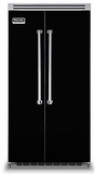 """VCSB5422BK Viking 42"""" Built-in Professional Series Built-in Side-by-Side Refrigerator with Plasmacluster Ion Air Purifier  - Black"""