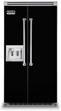"""VCSB5422DBK Viking 42"""" Built-in Professional Series Side-by-Side Refrigerator with Plasmacluster Ion Air Purifier & Dispenser  - Black"""