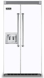 """VCSB5422DWH Viking 42"""" Built-in Professional Series Side-by-Side Refrigerator with Plasmacluster Ion Air Purifier & Dispenser  - White"""