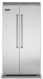 "VCSB5423SS Viking Professional 5 Series 42"" Side by Side Built In Refrigerator Freezer - Stainless Steel"