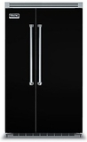"""VCSB5482BK Viking 48"""" Built-in Professional Series Built-in Side-by-Side Refrigerator with Plasmacluster Ion Air Purifier  - Black"""