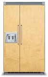 """FDSB5482D Viking 48"""" Built-in Professional Series Built-in Side-by-Side Refrigerator with Plasmacluster Ion Air Purifier & Dispenser  - Custom Panel"""