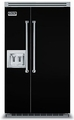 "VCSB5482DBK Viking 48"" Built-in Professional Series Built-in Side-by-Side Refrigerator with Plasmacluster Ion Air Purifier & Dispenser  - Black"