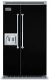 """VCSB5482DBK Viking 48"""" Built-in Professional Series Built-in Side-by-Side Refrigerator with Plasmacluster Ion Air Purifier & Dispenser  - Black"""