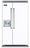 """VCSB5482DWH Viking 48"""" Built-in Professional Series Built-in Side-by-Side Refrigerator with Plasmacluster Ion Air Purifier & Dispenser  - White"""