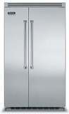 "VCSB5482SS Viking 48"" Built-in Professional Series Built-in Side-by-Side Refrigerator with Plasmacluster Ion Air Purifier  - Stainless Steel"