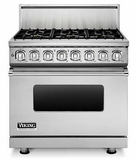 "VDR7366BSS Viking Professional 7 Series 36"" Dual Fuel Range - 6 Burners - Stainless Steel"
